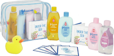 New Johnsons Baby Shower Bathtime Under The Sea Gift Set Shampoo Oil Lotion Bath
