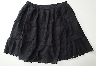 Zara Girls GREY Broderie Anglaise Embroidered Cotton Gypsy Skirt 2-14y £17.99