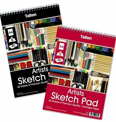Pack of 3 A4 165gsm SMOOTH WHITE CARTRIDGE PAD 25Sht STUDENT SKETCHING PAD