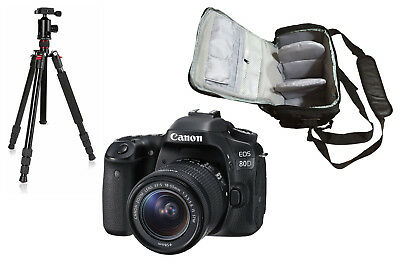 NEW Canon 80D + 18-55mm IS STM + KamKorda Bag + Tripod + UK NEXT DAY DELIVERY