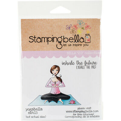 6.5 x 4.5 Stamping Bella Java Spills Cling Rubber Stamp