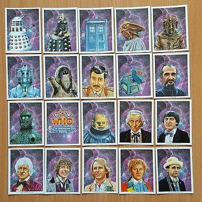 Doctor Who 30th Anniversary Trade Card Set of 20 from 1993 Free P&P to UK