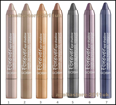 GOSH, Forever Eye Shadow Stick, Different Shades, Metallic Glittery Effect