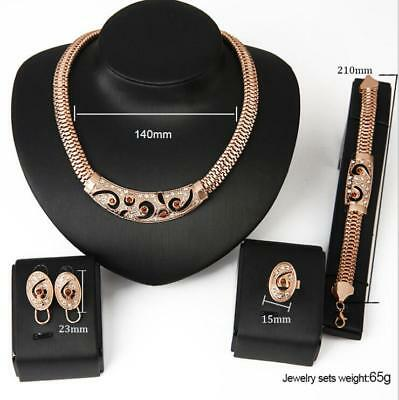 Lady exaggerated punk fashion party jewelry set necklace earrings ring bracelet