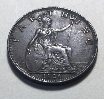 Great Britain (UK) 1926 Farthing Coin - King George V