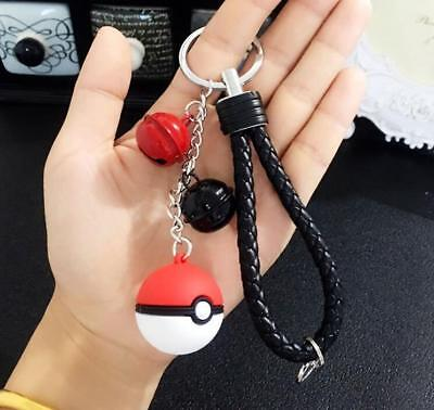 Creative Elf Ball Pokemon Bells Pendant Car Key Chain Bag Decoration Keyring Hot