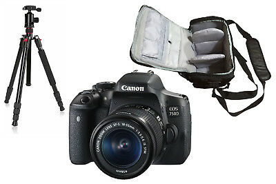 NEW Canon 750D + EF-S 18-55mm IS STM + KamKorda Bag + Tripod + UK NEXT DAY DEL