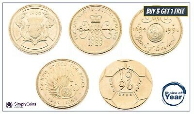 Two Pound Coin £2 1986 1989 1994 1995 1996 - Choose your Year  old