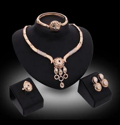 Jewelry Sets Necklace Earring Bracelet Ring Women Wedding Party Fashion Gift