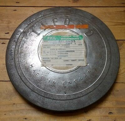 Vintage 16mm Ilford Cine Film Reel Can from War Museum - BBC Cannister Movie