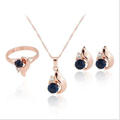 Bridal Jewelry Necklaces Pendants Earrings Ring Gift Party Stylish Creative Set