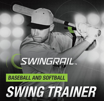 SWINGRAIL Baseball Softball Hitting Aid - Swing Training - Batting Trainer