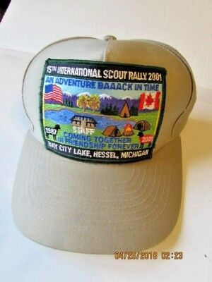 Vintage BSA Boy Scouts of America  Staff Hat 15th internalional Scout Rally 2001