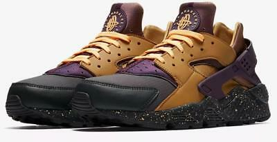 size 40 62e5d 5e878 NIKE AIR HUARACHE Run Premium 704830 012 Anthracite/Pro Purple/Element  Gold/Tang