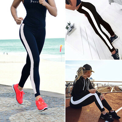 NEW  Women Yoga Fitness Waist Leggings Running Gym Stretch Sports Pants Trousers