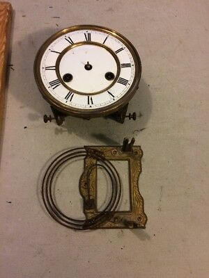 Antique German R/a Regulator Wall Clock  Fms Movement  Mounting Plate