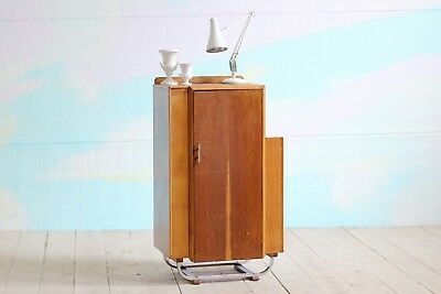 Vintage Retro MidCentury Art Deco Cocktail Drinks Cabinet Cupboard Shelving