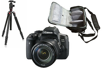 NEW Canon 750D + 18-135mm IS STM + KamKorda Bag + Tripod + UK NEXT DAY DELIVERY