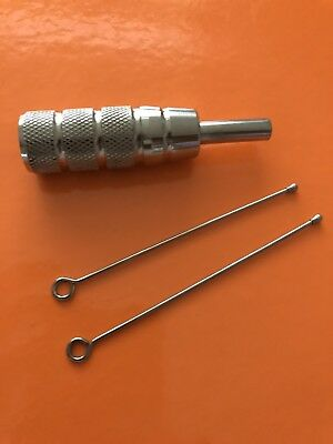 Type 201 Stainless Steel Tattoo Grip With 2 Plungers