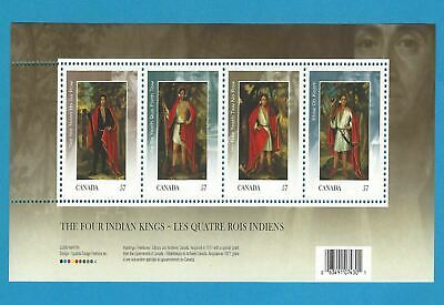 Canada Stamps 2010 57 Cent  Scott* 2383b Four Indian Kings Sheet Of 4