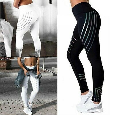Women Waist Yoga Fitness Leggings Running Gym Stretch Sports Pants Trousers 2018