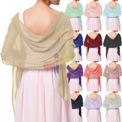 Soft Chiffon Scarve Shawls Wraps stole For Weddings Bridal Bridesmaids & Evening