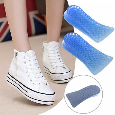 2.5cm Lift Unisex Height Increase Shoe Insoles Silicone Gel Heel Insert Pad X2