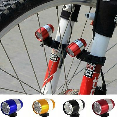 1PC New Cycling Bicycle Bike Front Fork 6 LED Light Safety Warning Lamp 2 Modes