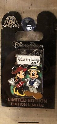 Disney Parks FINE & DANDY 2018 Mickey and Minnie LE 5000 pin