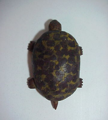 PUCHO ODIO Listed Cuban 20th Century FOLK ART CARVED WOOD and PAINTED TURTLE