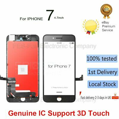 "For Apple iPhone 7 4.7"" 3D Touch Screen LCD Digitizer Assembly Replacement Black"