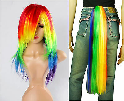 Little Pony Rainbow Dash Cosplay costume wig tail set - Friendship Magic #mz025
