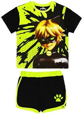Ladybug/miraculous Set T-Shirt And Shorts With Adrien - Cat Noir Made Of Cotton