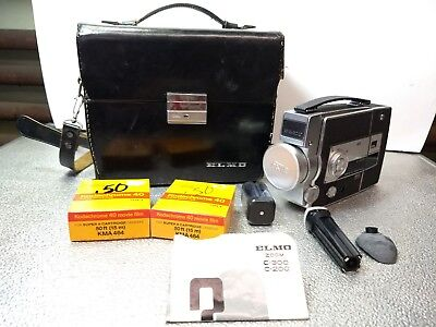 Elmo C-200 Super 8 Vintage Video Camera with Case and Extras Included + Must See