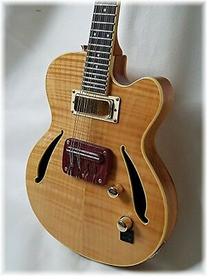 Dillion Professional 8 string Electric jazz Mandolin in natural with maple top