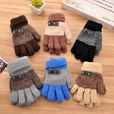 Finger  Protector Full Finger Mittens Knitted Gloves Winter Warm Gloves