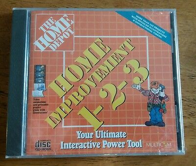 Home Depot Home Improvement 1-2-3 CD-ROM for Win/Mac - NEW CD in jewel case