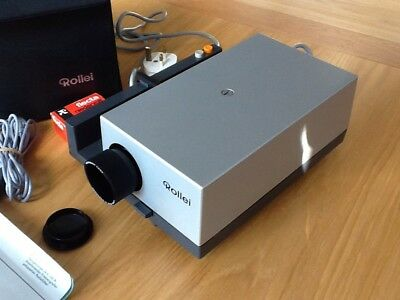 Rollei Vintage 35mm Slide Projector P35A Case /  Manual / Power Lead / Remote