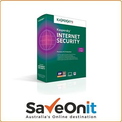 Kaspersky Internet Security 2018 3 PC 1 Year Fast Email license key
