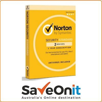 Norton Internet Security Standard 2018 2 device PC 1 Year Fast email license key