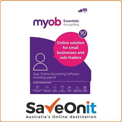 MYOB Accountright Essential with Payroll 90 Days subscription - Email License