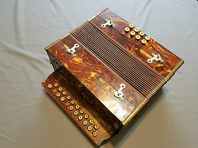 Button Accordion Squeezebox Diatonic Bisonoric Collectible Vintage