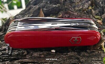 Victorinox Swiss Army Knife Red Handyman, Victorinox 53722, 24 Tools, New In Box
