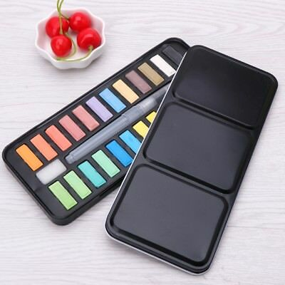 12/18/24 Solid Watercolor Paint Set Portable Art Drawing Brush Painting Supplies