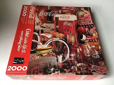 SPRINGBOK 1991 Coca Cola Coke adds life to everything nice 2000 PC. Puzzle