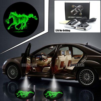 2pcs Car Door Projector Welcome Lights For Ghost Shadow No Drilling Source · 2pcs No Drill