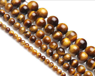 Wholesale 50pcs / 100Pcs Round Loose Tiger's Eye Charm Spacer beads Jewelry 6mm