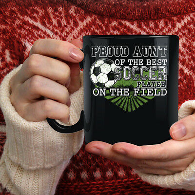 efc2c945293 Proud Aunt Of The Best Soccer Player Coffee Mug, Awesome Aunt Coffee Cup
