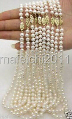 """WHOLESALE 10PC 6-7MM WHITE freshwater Cultured PEARL NECKLACE 18""""14K Clasp"""