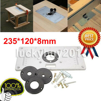 235 x 120 x 8mm aluminum router table insert plate with ring for 2351208mm aluminum router woodworking table insert plate keyboard keysfo Gallery